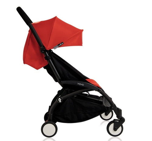 YOYO+ Junior Stroller 6 months to 5 years, Black Frame Red