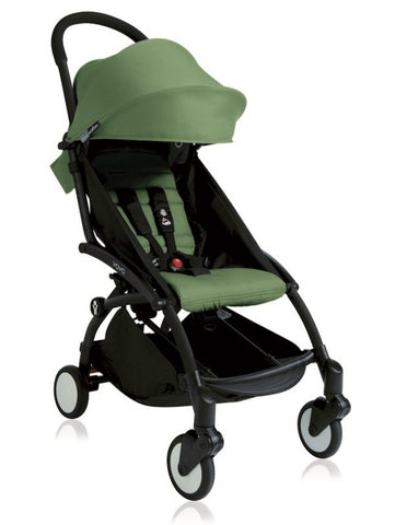 YOYO+ Junior Stroller 6 months to 5 years, Black Frame Peppermint