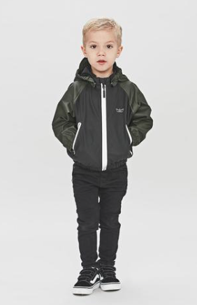 Rain Jacket Crew Black/Green