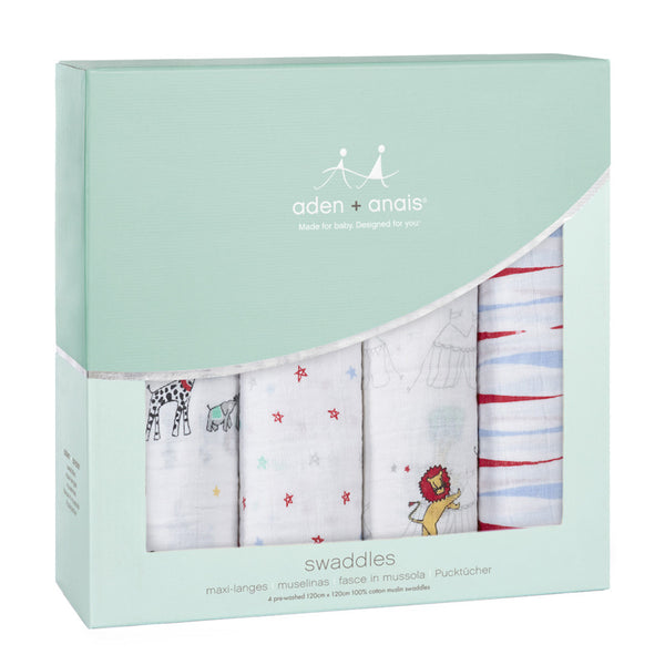Classic Swaddles Vintage Circus 4-pack