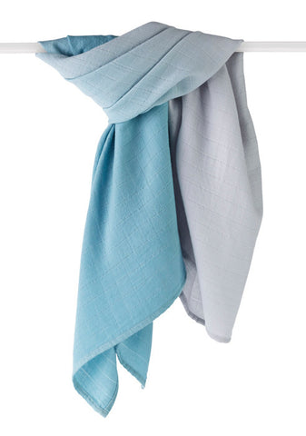 Merino Wool Muslin Swaddle Blanket Seaside