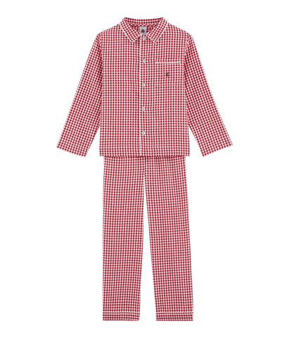 Little Boy's Checked Pyjamas
