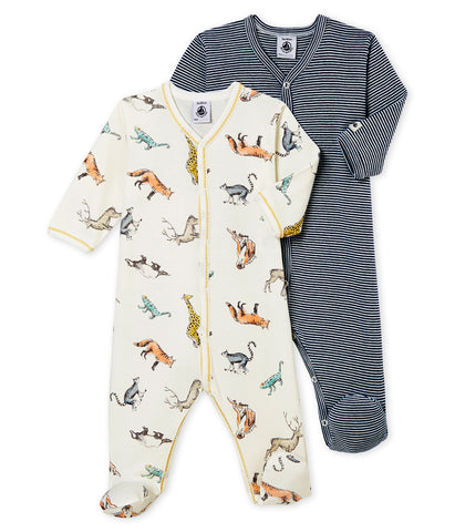 Baby Boy's Sleepsuit Duo