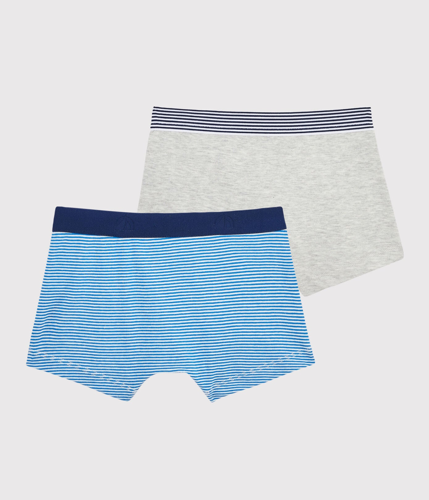 Boys' Pinstriped Boxer Shorts - 2-Piece Set