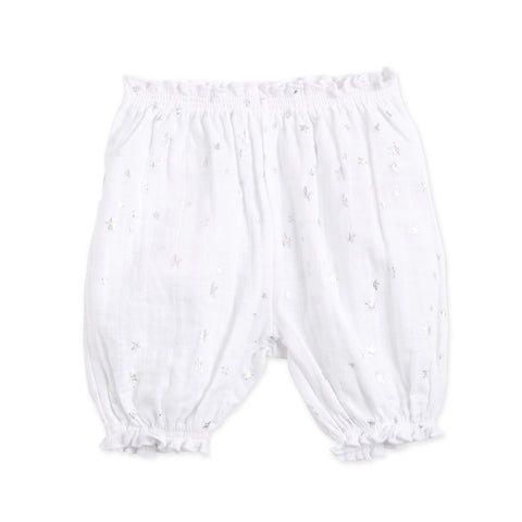 Bubble Shorts Metallic Silver Starburst