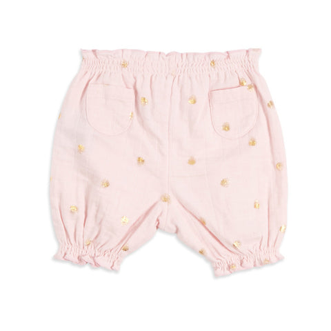 Bubble Shorts Metallic Primrose Water Dot