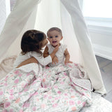 """ma fleur"" cotton muslin dream blanket"