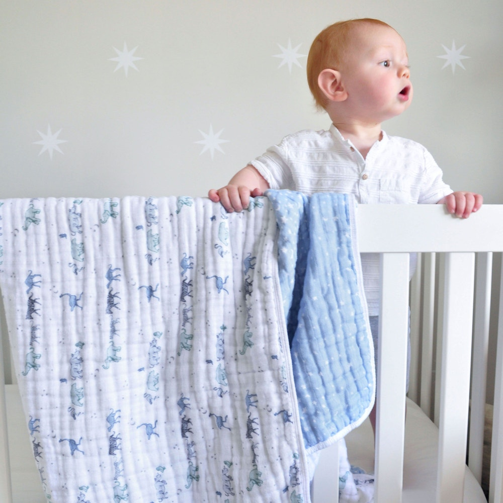 """rising star"" cotton muslin dream blanket"