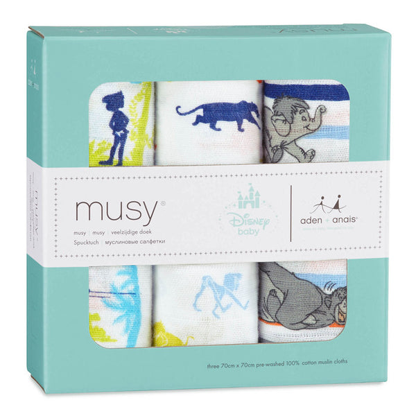 Disney Jungle Baby Muslin Squares 3-pack