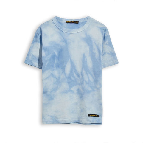 Kid Pale Blue Tie & Dye Short Sleeves T-Shirt