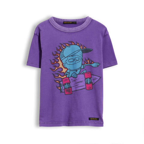 Kid Purple Go Skate Short Sleeves T-Shirt