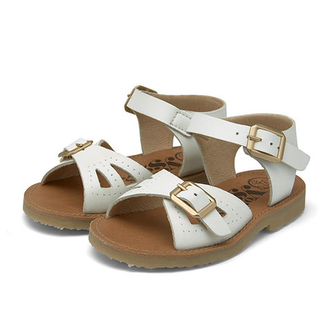 Pearl VEGAN Sandals White Synthetic Leather | CHILD