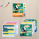 6 CARDS + 360 COLORFUL STICKERS  TROPICAL
