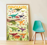 GIANT POSTER + 32 STICKERS  DINOSAURS