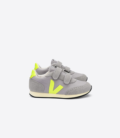 VEJA Arcade B-mesh Silver Jaune Fluo Butter Sole Sneakers