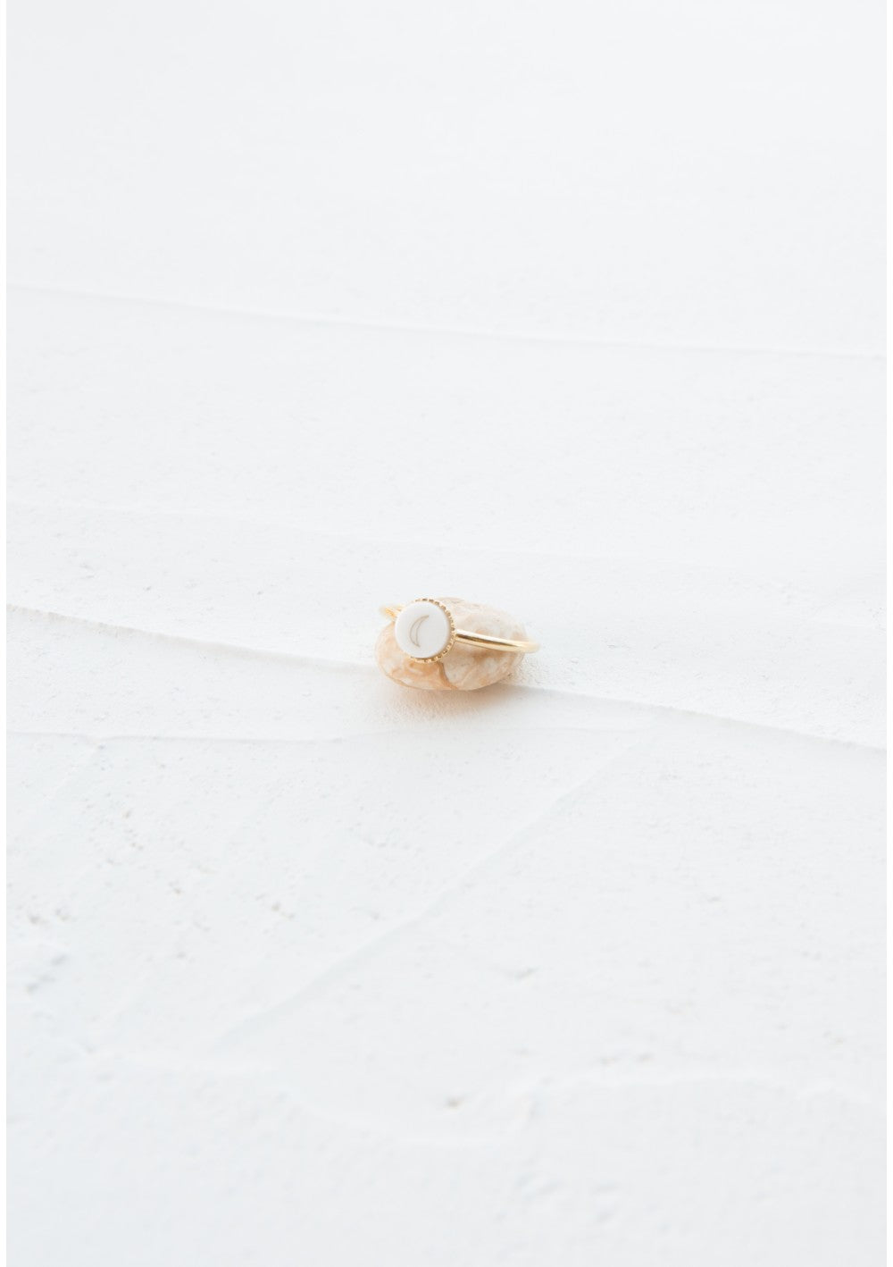 Plated yellow gold ring