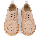 Brando Leather Derbies Nude Pink