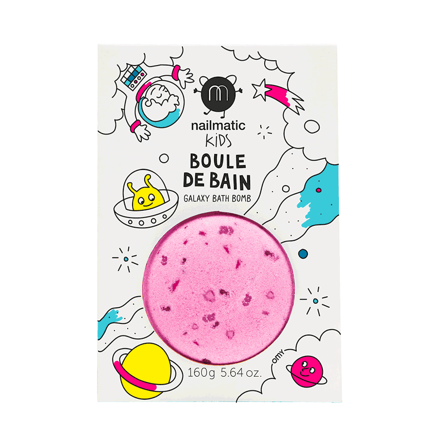 Colouring and soothing bath bomb for kids - Cosmic