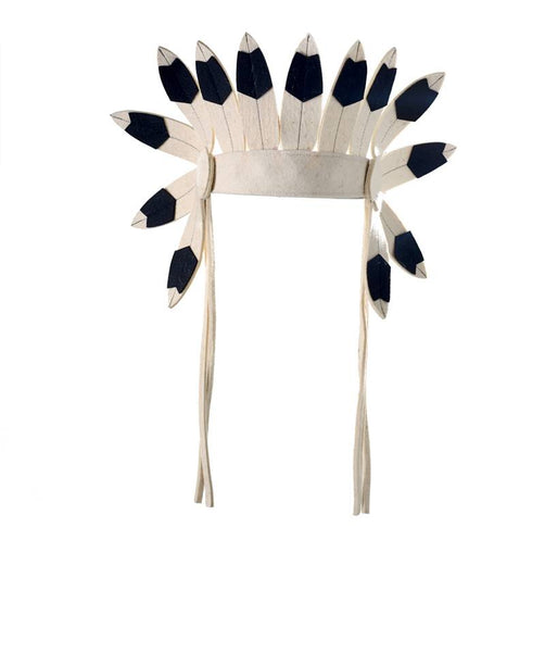 SHORT INDIAN HEADDRESS BLACK