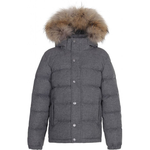 Wool Look Down Jacket
