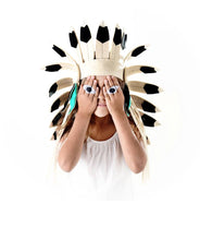 INDIAN HEADDRESS BLACK