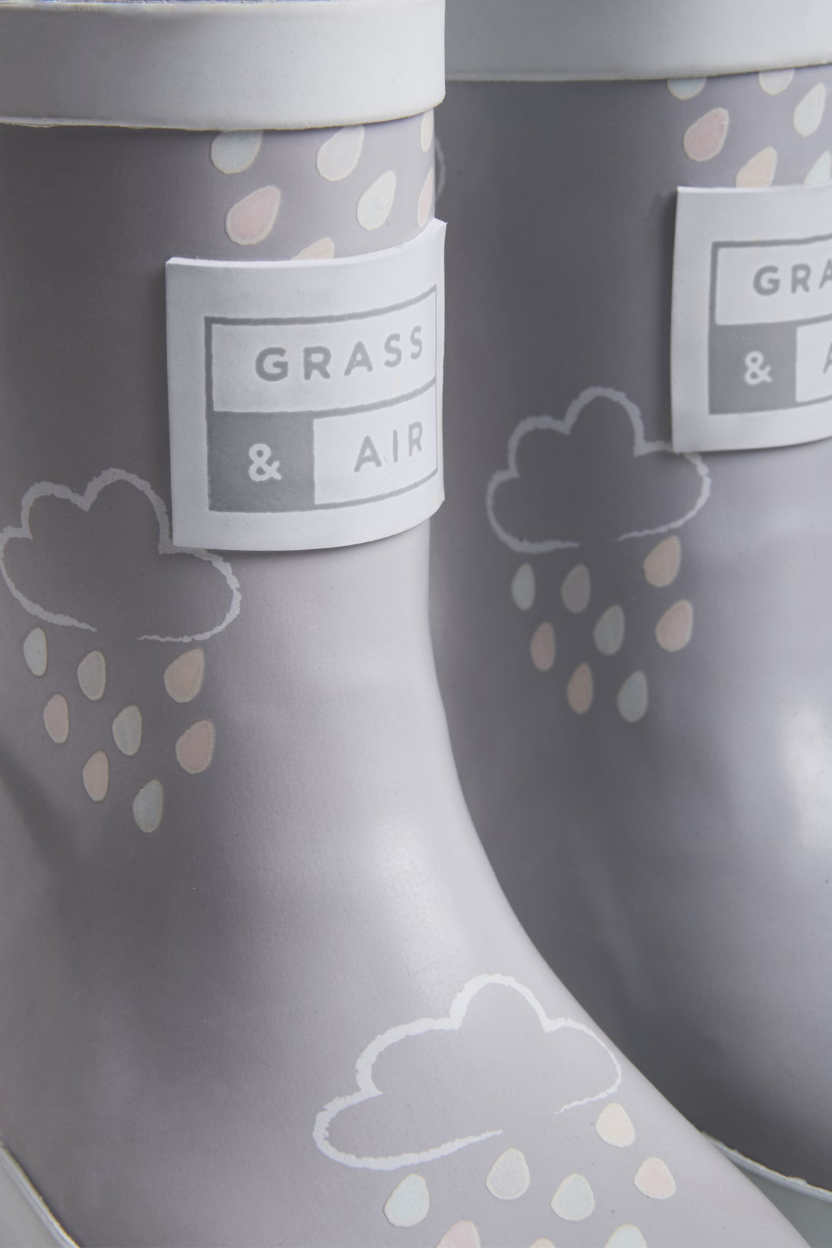 Grey Kids Colour-Revealing Wellies