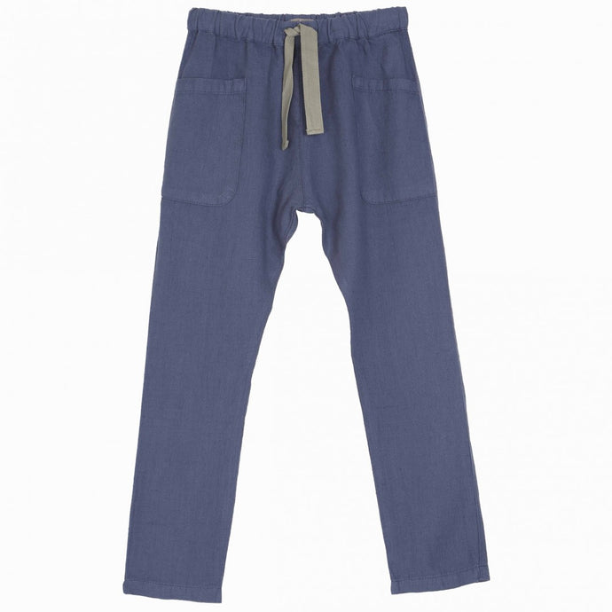 Linen Boy Trousers - Indigo