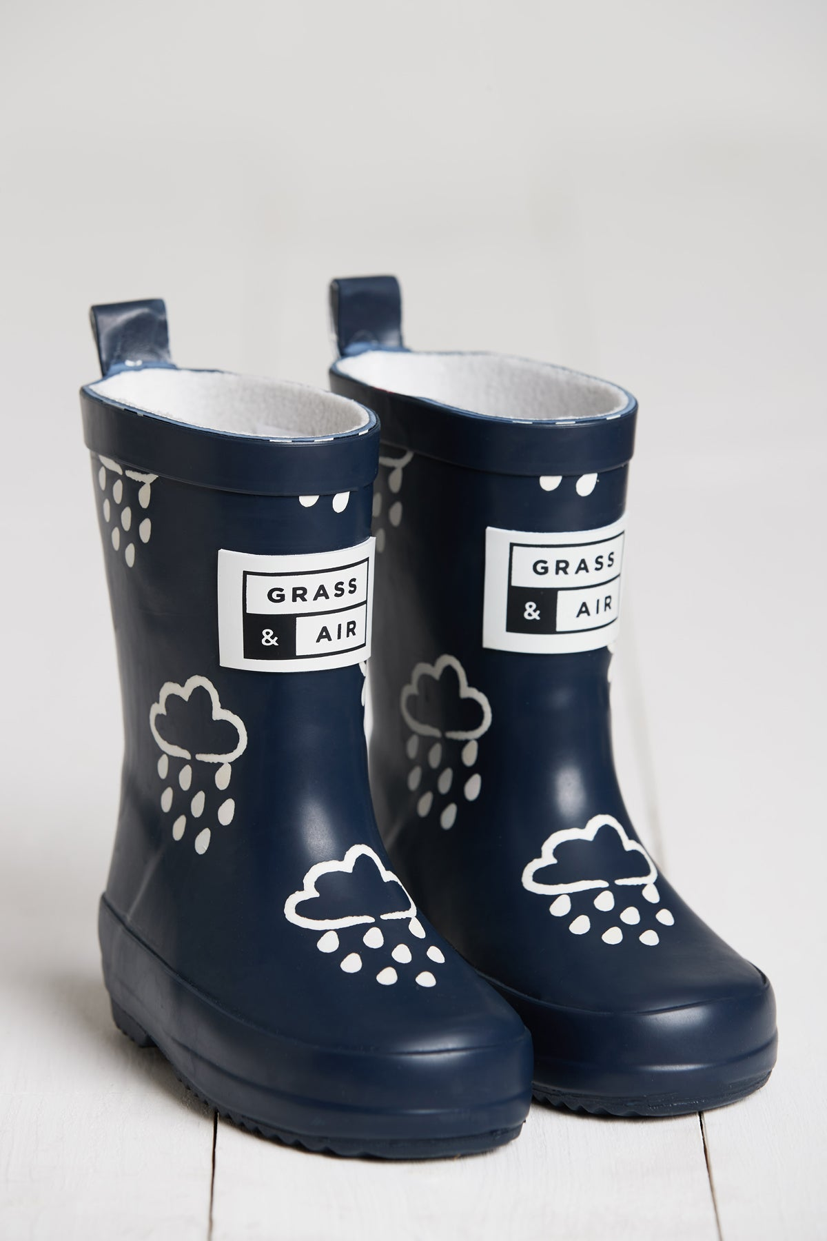 Navy Kids Colour-Revealing Wellies