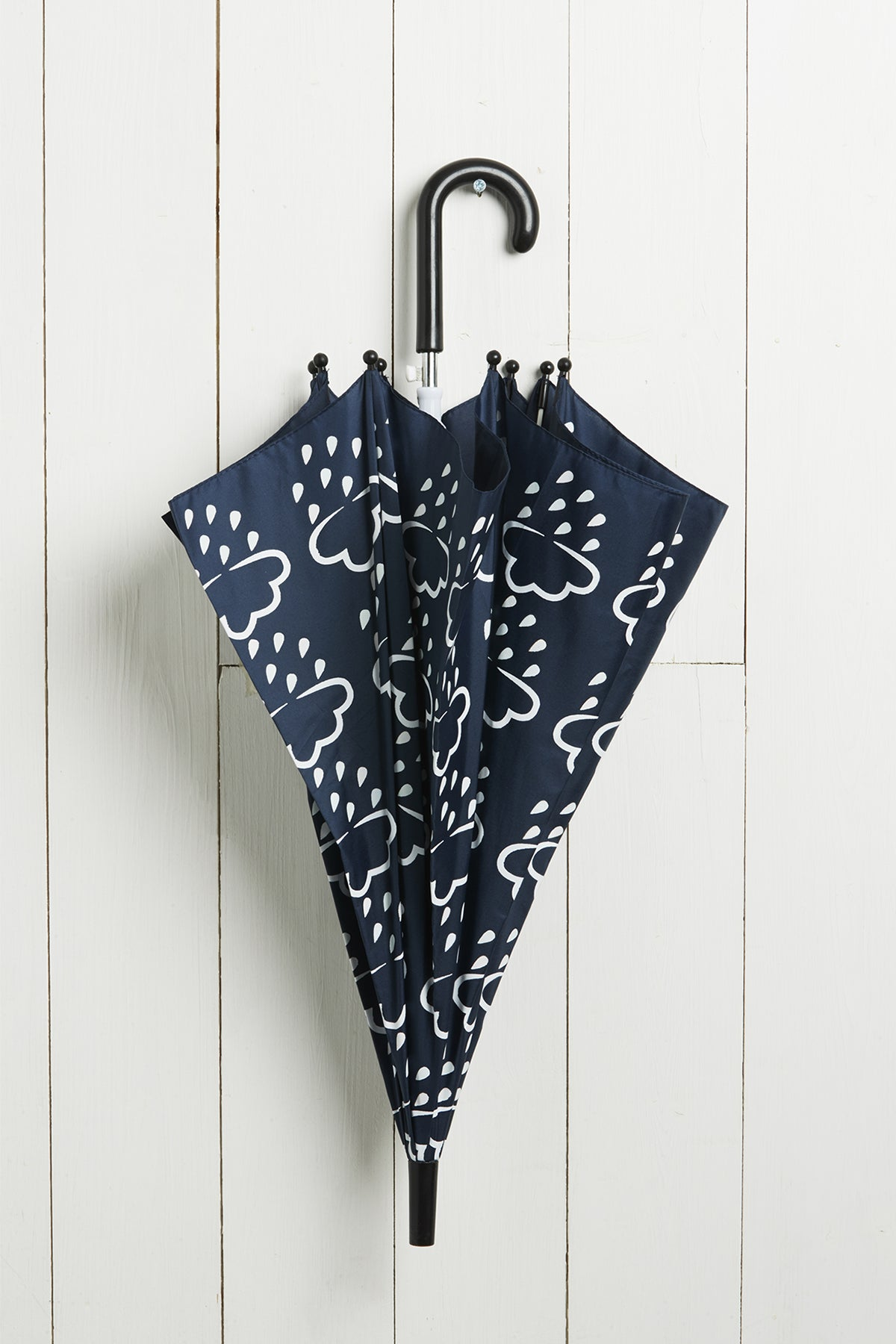 Navy Colour-Revealing Kids Umbrella
