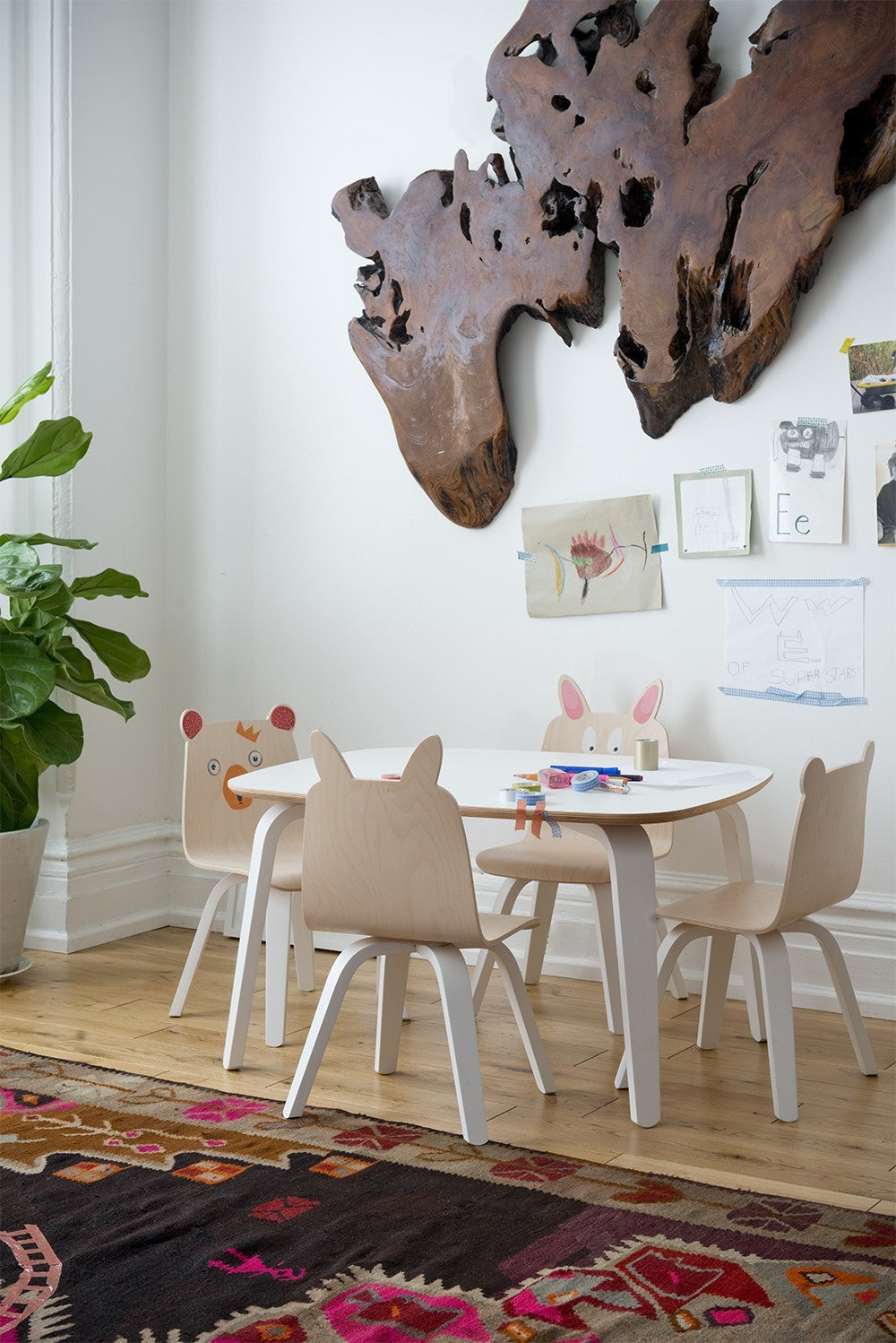 Rabbit Play Chair (Set of 2) - Walnut