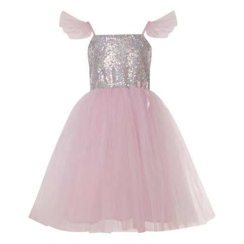 Silver Sequins Princess Costume Dress
