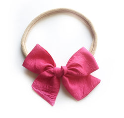 Raspberry Silk Mini Suzy Bow