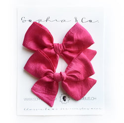 Raspberry Silk Mini Suzy Pigtail Set