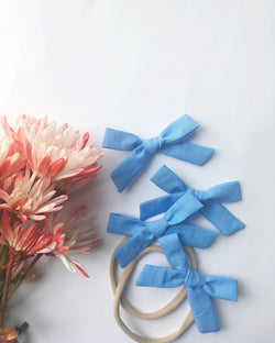 Periwinkle Hand Tied Bow