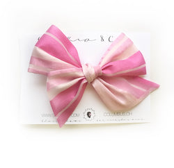 Ballet Stripe Oversized Suzy Bow