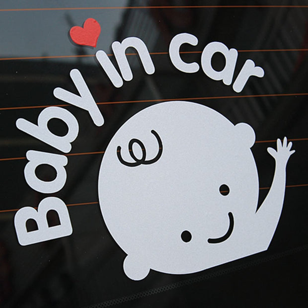 Awesome Life ,Baby In Car Waving Baby on Board Safety Sign Cute Car Decal Vinyl Sticker