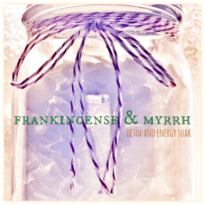 Frankincense and Myrrh Detox Salts
