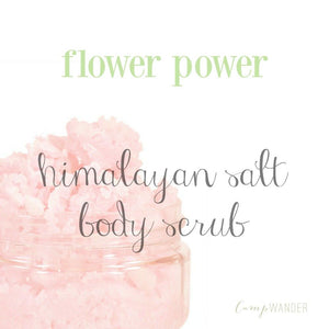 Flower Power Himalayan Salt Scrub