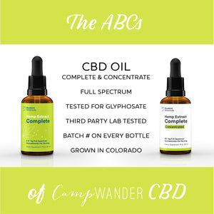 The ABCs of CBD @ Camp Wander