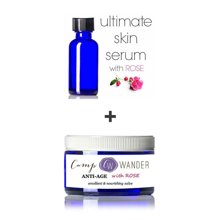 Ultimate Skin Serum + Anti-Age Salve with Rose