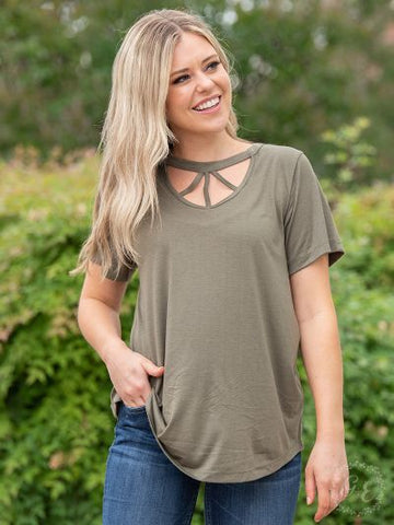 Caged In Tee (Olive)