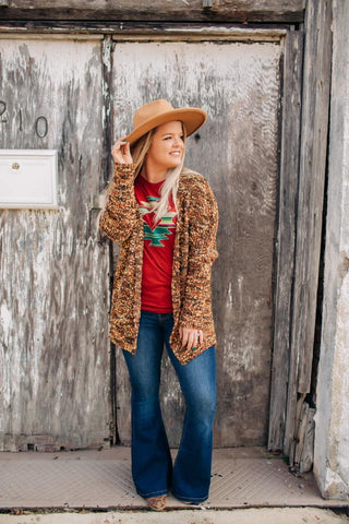The Comfort Popcorn Cardigan (Brown)