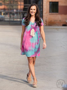 Bright Outlook Tie Dye Dress