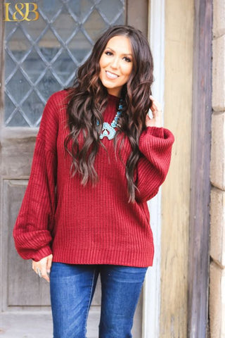 Linden Maroon Sweater