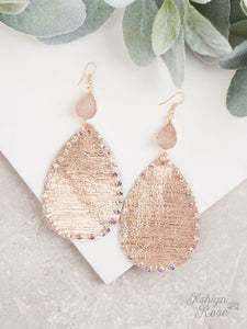Mixing It Up Druzy Earrings (Rose Gold)