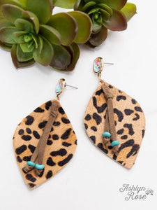 Glitter In the Wild Earrings (Leopard)