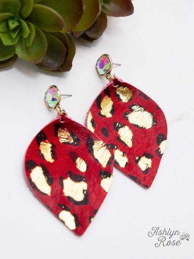 Glitter In the Wild Earrings (Red)