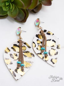 Glitter In the Wild Earrings (White)