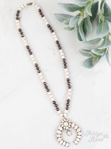 Down in the Holler Squash Blossom Necklace- WHITE