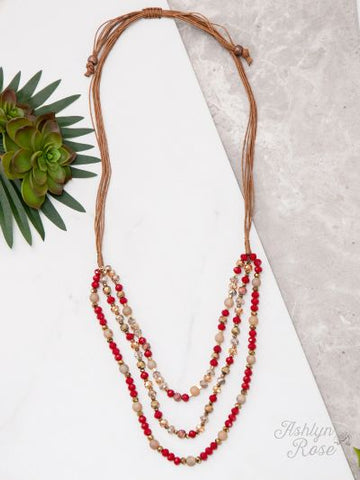 Dressed To Impress Necklace- RED